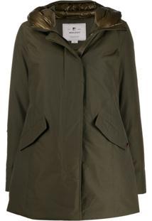 Woolrich Hooded Padded Jacket - Verde