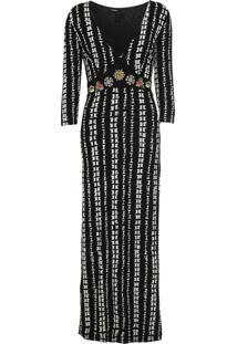 Vestido Desigual Longo July Preto - Kanui