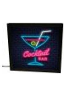 Luminária Prolab Gift Bar Neon Preta 22X22Cm