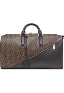 Fendi Monogram-Print Duffle Bag - Marrom
