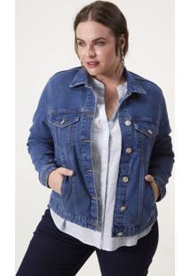 Jaqueta Jeans Com Bolsos Curve & Plus Size