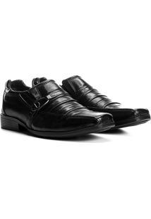 Sapato Social Couro Walkabout Iorque - Masculino-Preto