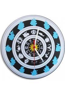 Relógio De Parede Zodíaco Geek10 - Azul