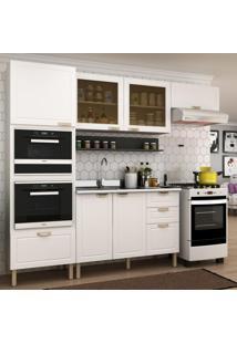 Cozinha Completa 6 Peças Americana Multimóveis 5913Mf Branco/Grafite