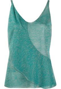 Pinko Blusa De Tricô Com Detalhe De Babados - Verde