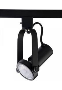 Spot Para Trilhos Basic Par20 16Cmx6,5Cm Bella Iluminação Caixa Com 2 Unidade Preto