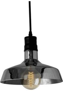 Pendente Retrô Preto Com Lâmpada Filamento De Carbono G80 220V Sl2333 Toplux