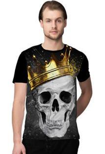 Camiseta Stompy Skull King Masculina - Masculino-Preto