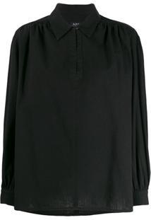 A.P.C. Blusa Com Colarinho - Preto
