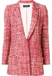 Styland Blazer De Tweed - Vermelho