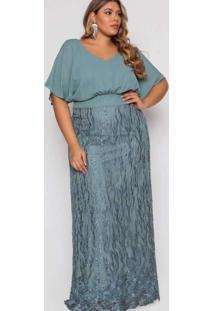 Vestido Almaria Plus Size Pianeta Longo Blousê Ver