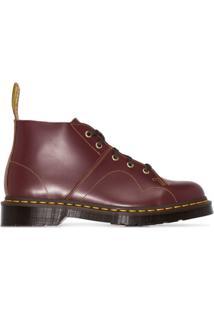 Dr. Martens Ankle Boot Church De Couro - Vermelho