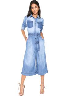 ee9065539 ... Macacão Jeans Forum Pantacourt Liso Azul