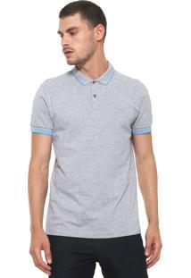 Camisa Polo Sommer Reta Logo Cinza