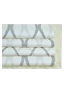 Papel De Parede Importado Vinilico Lavavel Geometrico Off White Prata E Preto