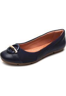 Sapatilha Comfortflex Lisa Azul-Marinho