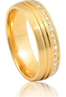 Aliança De Casamento Em Ouro 18K 5,5Mm Anatômica