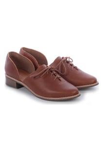 Sapato Fenda Caramelo