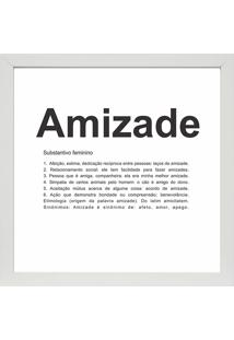 Quadro Amizade 27X27-Kapos - Branco
