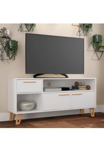 Rack Para Tv Edge Br 378 Branco/Vazado - Brv Móveis