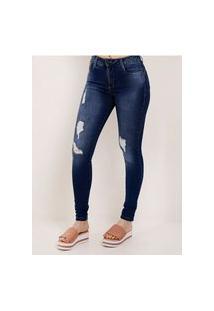 Calça Jeans Compressora Feminina Sawary Azul