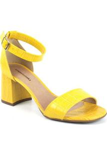 Sandália Emporionaka Texas Feminina - Feminino-Amarelo
