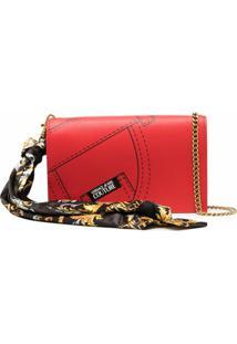 Versace Jeans Couture Bolsa Tiracolo Com Estampa Gráfica - Vermelho