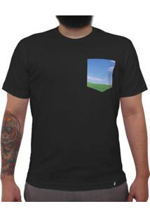 Windows - Camiseta Clássica Com Bolso Masculina