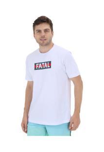 Camiseta Fatal Estampada 20330 - Masculina - Branco