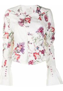 Renli Su Jaqueta Com Estampa Floral - Branco