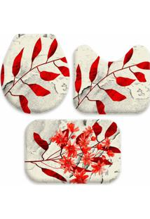 Jogo Tapate Love Decors Para Banheiro Sheets Red Único Vermelho - Kanui
