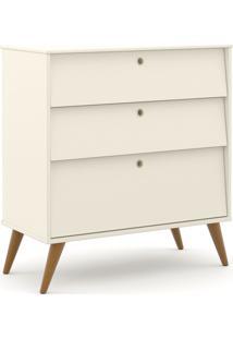 Gaveteiro Gold Off White/Eco Wood Matic Móveis