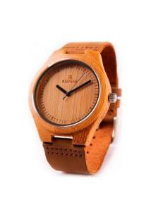 Relógio Feminino Red Deer Madeira Sj1473 - Marrom Escuro
