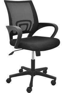 Cadeira Office Santiago Preta Base Rodizio Rivatti Móveis