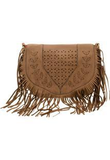 Bolsa Feminina Transversal Arara Dourada - H289 Taupe