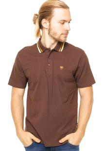Camisa Polo Manga Curta Cavalera Basic Marrom
