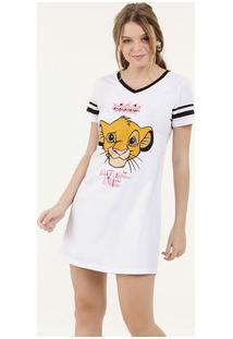 Camisola Feminina Estampa Simba Manga Curta Disney