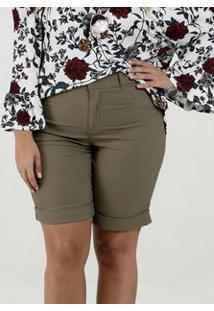 Bermuda Feminina Bengaline Plus Size Marisa