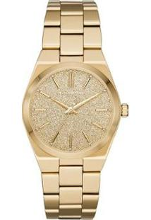 Relógio Michael Kors Channing Feminino - Feminino-Dourado