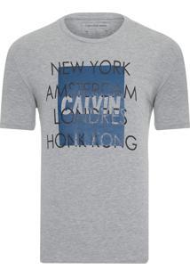 Camiseta Masculina Cidades - Cinza