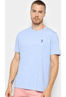 Camiseta Aleatory Básica Masculina - Masculino-Azul Claro