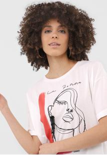 Camiseta Sommer La Femme Off-White - Kanui