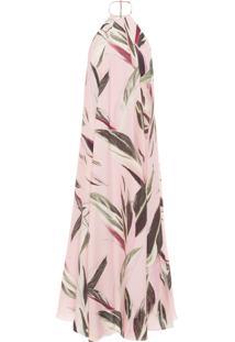 Vestido Feminino Frente Única Leaf - Rosa
