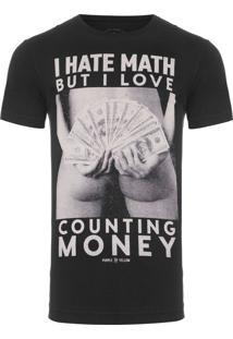 Camiseta Masculina Counting Money - Preto