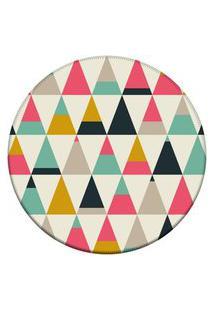 Tapete Love Decor Redondo Wevans Triangulos Multicoloridos 84Cm