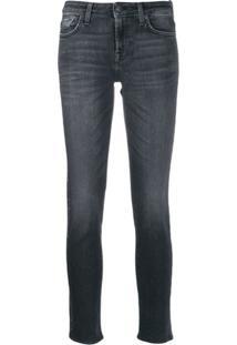 7 For All Mankind Calça Jeans Com Tachas - Preto