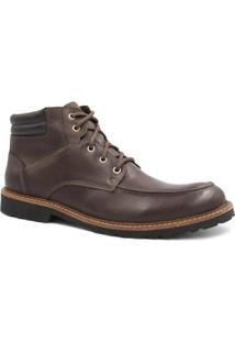Bota Couro Zariff Shoes Masculino - Masculino-Marrom Escuro