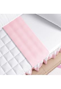 Lençol Solteiro Infantil Rosa E Branco 3Pçs Grão De Gente Rosa