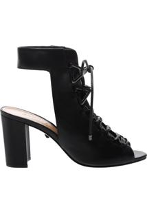 Bota Open Back Lace-Up Black | Schutz