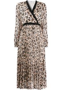 Liu Jo Vestido Com Estampa Corrida - Neutro